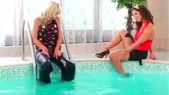 Kinky wet sexy girls 18 best friend in the pool Thumb
