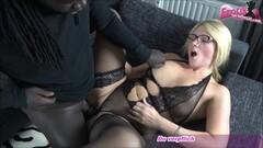 Kinky german blonde milf teacher with glasses and bbc Thumb