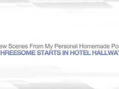 THREESOME STARTS IN HOTEL HALLWAY – PUBLIC SEX Thumb