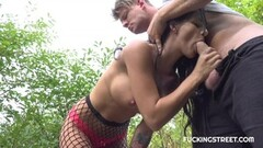 Cute Tattooed brunette gets fucked for cash Thumb