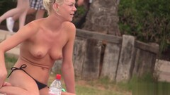 Hard bodied toned blonde with pierced nipples Thumb