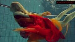 Steamy underwater show with Nastya Thumb