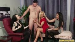 Kinky Cock sucking cfnm babes share dick Thumb