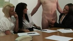 Clothed office ladies jerking cock Thumb