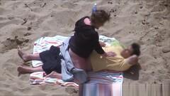Horny Couple Greek Beach Voyeur Thumb