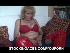 Busty Blonde Milf In Kinky Boots Thumb
