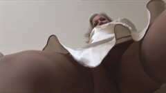 Busty attractive granny in open girdle and stockings Thumb