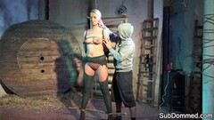 Tall euro orgasms while bound and dominated Thumb