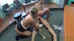 Voyeur office threeway with nurse and doctor Thumb