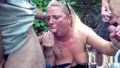 Public rest area Slut, is used dirty by 30 truckers and filled with sperm and piss! Chapter 1 (Atten Thumb