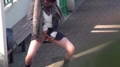 Teen students pee outside Thumb