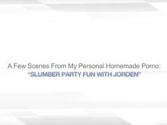 SLUMBER PARTY FUN WITH JORDEN – AMATEUR BI WIVES Thumb