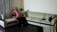 seduced by her pink sexy dress and asked to fuck hard : RealLifeCam : Cam1 Thumb