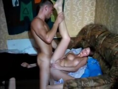 Brunette College Whore Masturbates Clit While Pussy Is Pounded Thumb