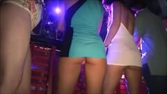 Night club girls upskirts in mini-skirts 3 Thumb