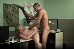 Blonde secretary gives her boss her proposal & a quick fuck Thumb