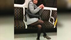 pantyhose girls in metro Thumb