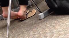 Candid College Cheerleader Feet in Class 4 Thumb