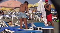 Bikini Cameltoe Milf Beach Voyeur HD Video Thumb