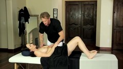 MILF gets seduced and groped during massage Thumb