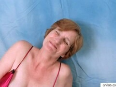 Hairy Milf Wearing Lingerie Toying Thumb