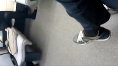 Teen in black pantyhose and flats (original) Thumb