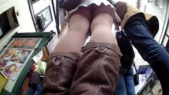 Cutie in Nude Colour Pantyhose Upskirted Thumb