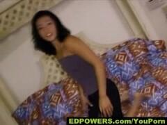 Pretty Jap girl gets hot facial Thumb