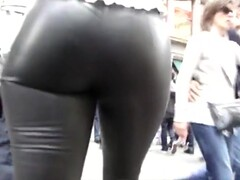 Candid Leather (Real leather pants on sexy ebony) Thumb