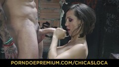 CHICAS LOCA - Silicone boobs MILF fucked outdoors Thumb