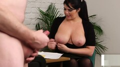 bigtitted british voyeur encourages her sub Thumb