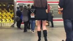 Thin Pantyhose on sexy long legs. Thumb