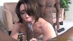Kinky Anal Babe Sarah Shevon Interracial DP Thumb