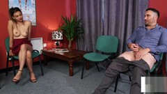 CFNM voyeur instructs jerkoff at doc office Thumb