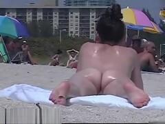Amazing nudist girls on a hidden beach voyeur vid Thumb