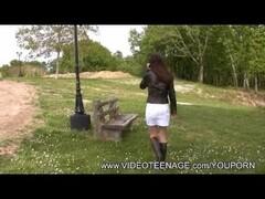 19yo Fabienne upskirt in a public park Thumb