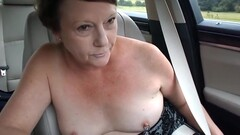 Exhibitionist MILF's Topless Car Dare Thumb