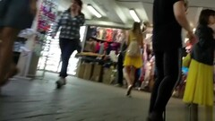 Slender Girl In A Yellow Dress Thumb