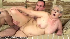 Kinky BBW GILF Cleans His Office and His Cock Thumb