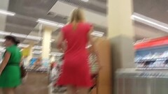 Upskirting Blondie In A Pink Dress Thumb