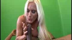 Cute Blonde MILF Ashley Chambers Sucks Black Cock Thumb